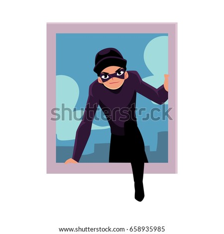thief  burglar breaking into