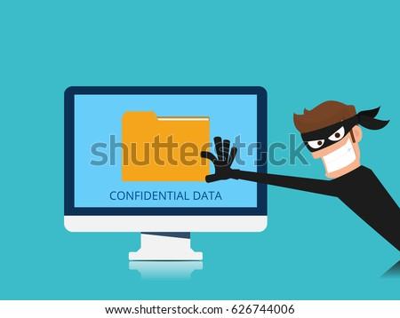 thief hacker stealing