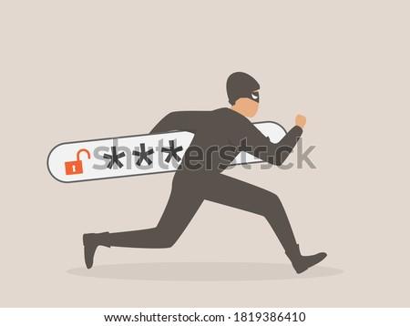 Thief. Hacker stealing sensitive data as passwords Сток-фото ©