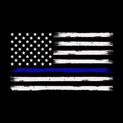 Thin blue line american flag illustration