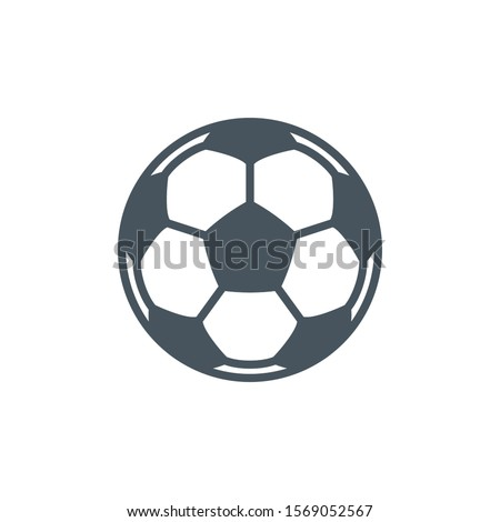 Thin contour lines icon soccer ball for playing football isolated on white background. Modern design minimalistic style black and white outline sign classic leather soccer ball.