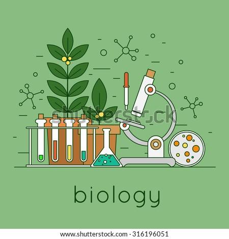 thin line biology laboratory...