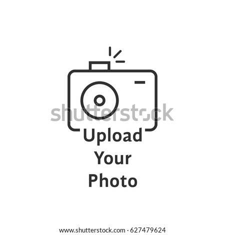 thin line black camera logo like upload your photo. graphic art design element isolated on white background or linear style trend logotype. web ui symbol of transfer for photographic gallery concept