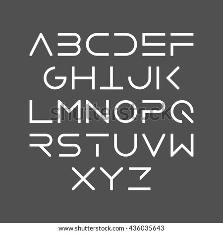 thin line bold style uppercase