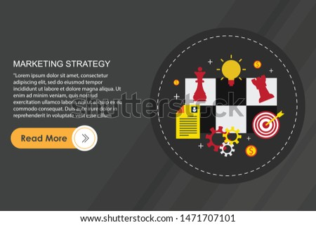 Thin line flat design concept banners for marketing strategy and content marketing. Strategy for successful business. Investment growth. Investment business. Investment managemen