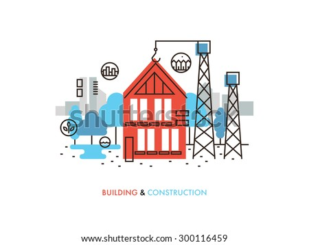 Exterior solutions free vector 4vector for Process of building a house
