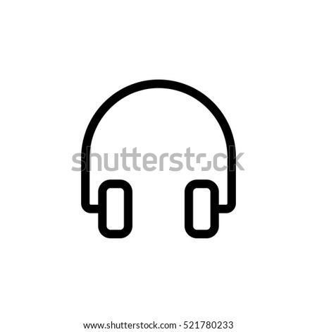 thin line headphones icon on