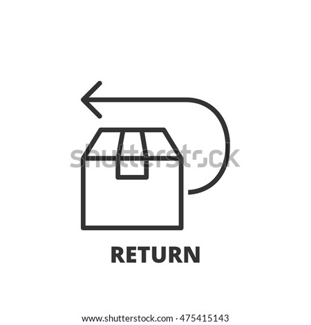 Thin line icon. Flat symbol about shipping. Return