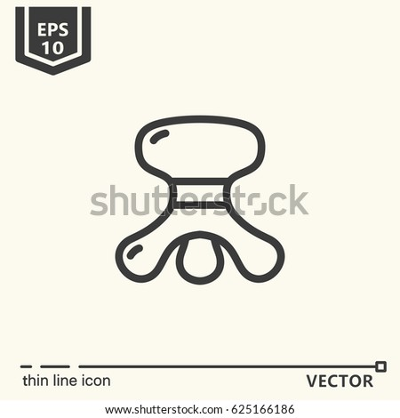 Thin line icon - Massage tool. EPS 10 Isolated object