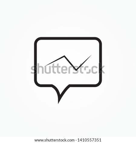 Thin Line icon. Message icon vector. Message icon illustration. Isolated chat symbol.