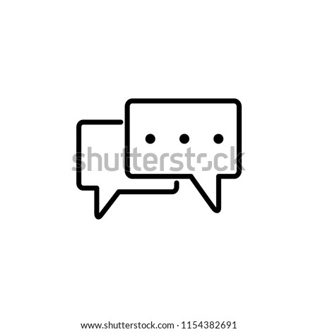 Thin line icon of chat, conversation, communication, message. Editable vector stroke 64x64 Pixel.