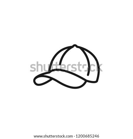 Thin line icon of Hat. Editable vector stroke 64x64 Pixel.