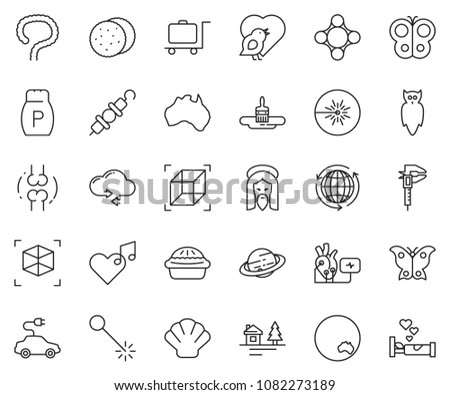 thin line icon set   around the