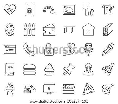 thin line icon set   browser