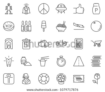 thin line icon set   super