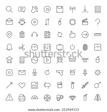 thin line icons for user