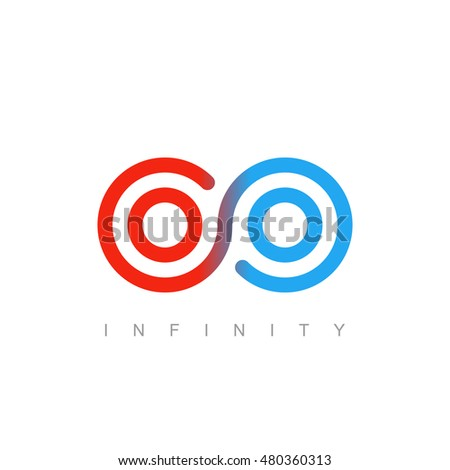 thin line infinity symbol or sign. linear infinite icon. limitless logo concept in modern flat outline style. isolated on white background. vector illustration