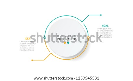 Thin line infographic template. Business concept with 2 options, step or process. Vector illustration.