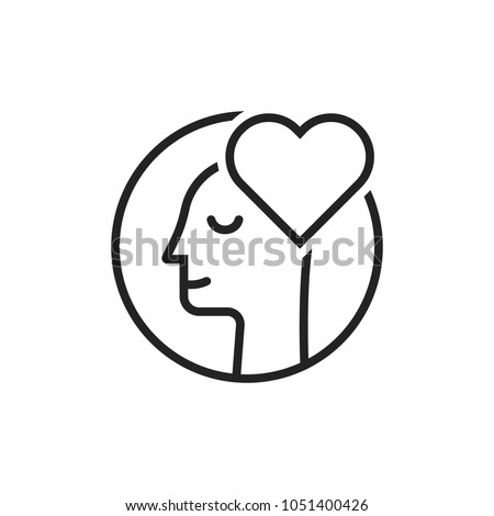 thin line lover man black logo. outline flat style trend modern contour creative logotype graphic art design isolated on white. concept of love or amour good feeling and harmony with smile face