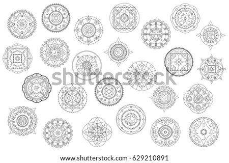 Mandala Flower Shapes Collection - Download Free Vector Art, Stock ...