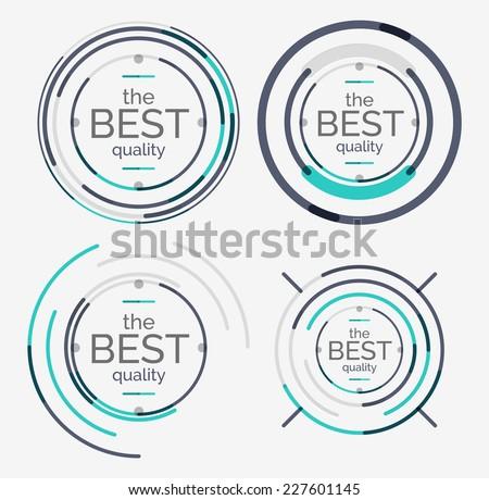thin line neat design logo set