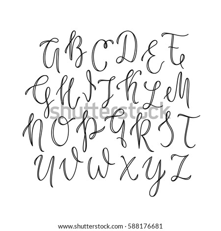 Airstock is - Thin line uppercase lettering / ABC  Outline font
