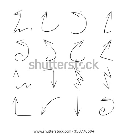thin line vector arrows