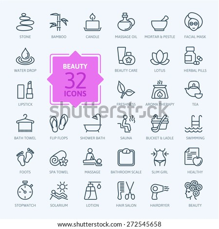 thin lines web icon set   spa
