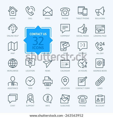 thin lines web icons set  ...