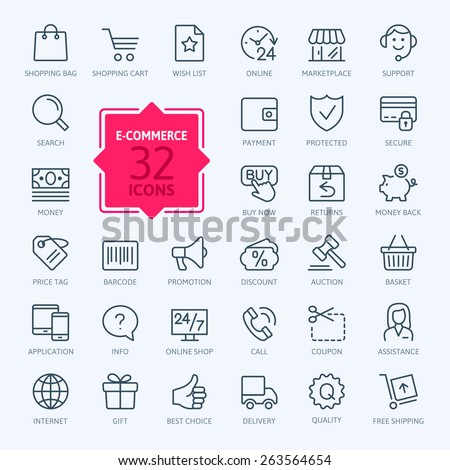 thin lines web icons set   e