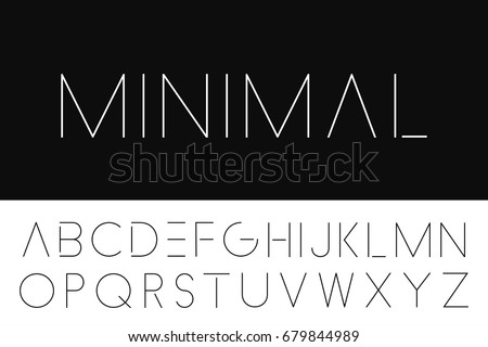 thin minimalistic font elegant