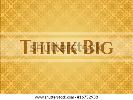 Think Big card, poster or banner