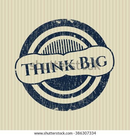 Think Big grunge stamp