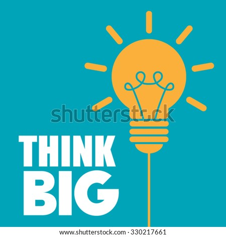 think big light bulb vector