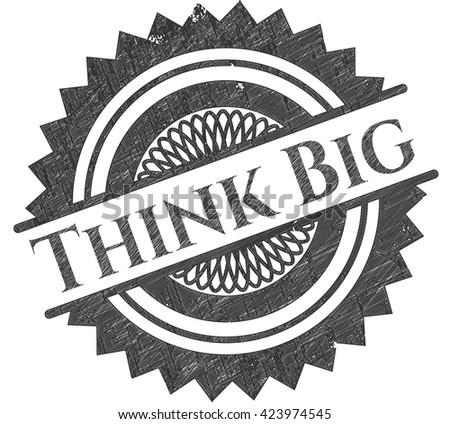 Think Big pencil strokes emblem