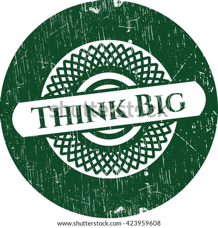 Think Big rubber seal with grunge texture