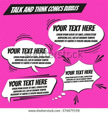 Think bubble and talk bubble set