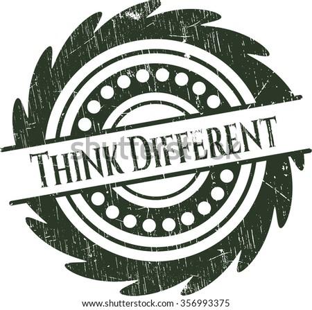 Think Different grunge seal