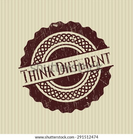 Think Different rubber grunge seal