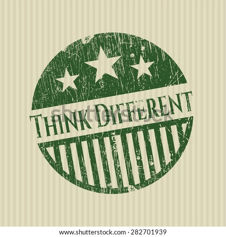 Think Different rubber stamp