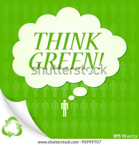 Think Green Logo Think Green Background Design
