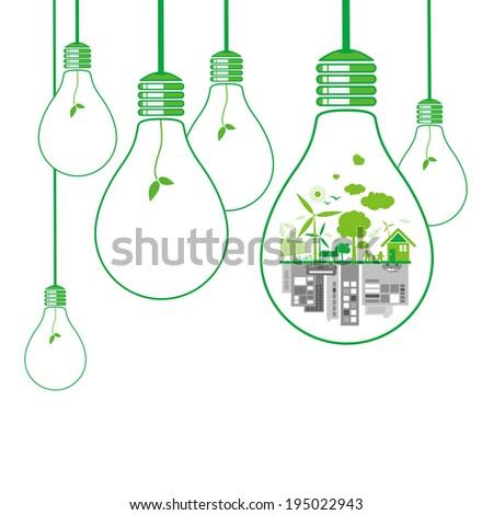 Think green design on white background