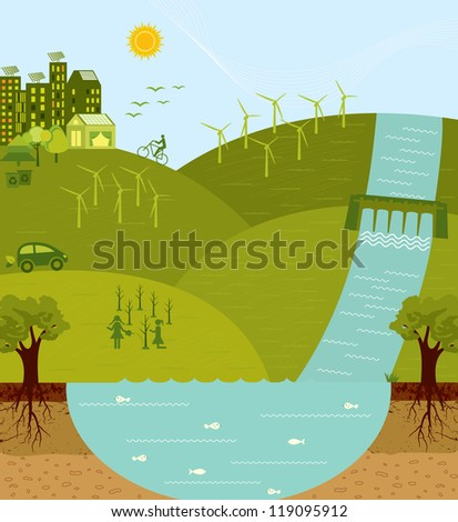 Think green, go green, sustainable environment