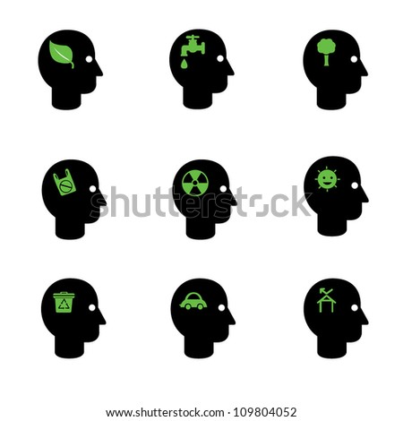 think green icon set