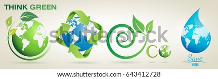 think green  recycle  eco  save
