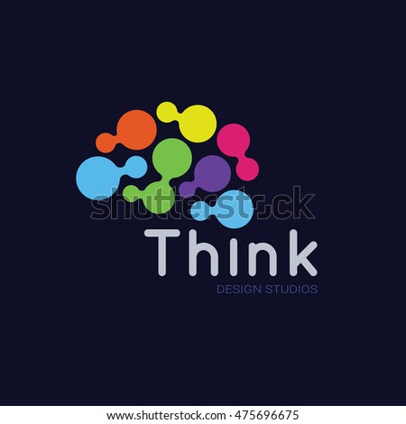 think logo  idea and brain logo