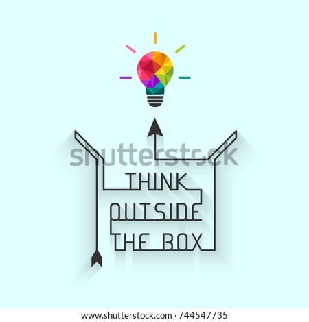 Shutterstock Think outside the box concept with saying and colorful lightbulb
