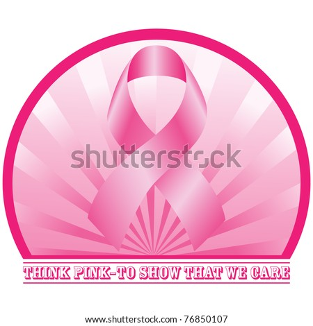 Think Pink design. Vector