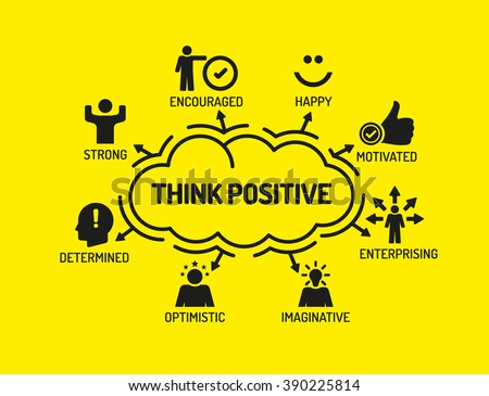 think positive chart with