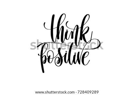 think positive hand lettering
